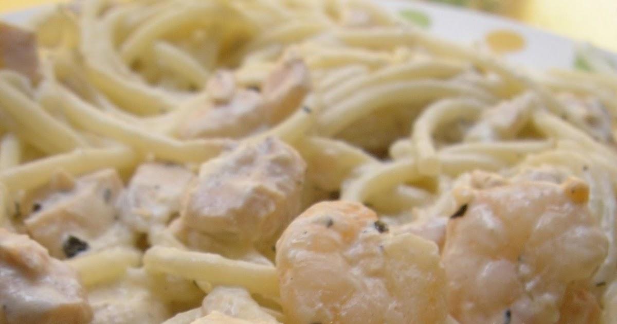 Las comiditas de cris espaguetis con salm n y gambas - Espagueti con gambas y nata ...