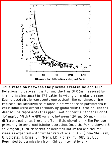 creatinine clearance and gfr relationship help