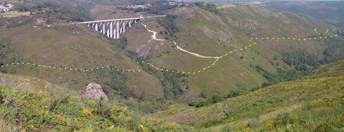 Vista panorámica do Camiño da Raiña: