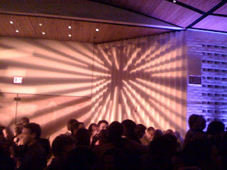lighting at SFMoMA 75th Anniversary Party concert room, January 15, 2010