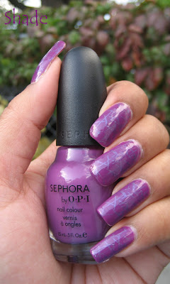 Sephora by OPI Domestic Goddess, Konad plate m72