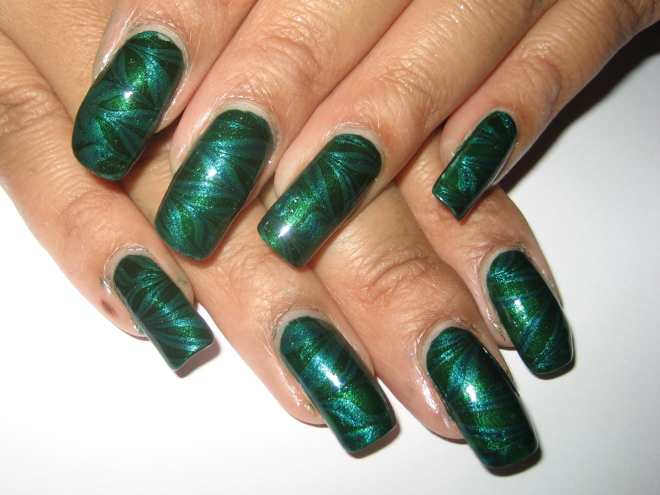 My Simple Little Pleasures: NOTD: Green Water Marble for Depression ...
