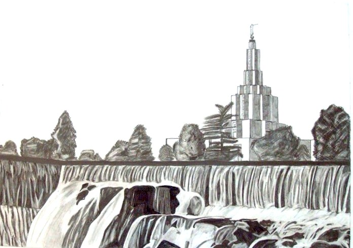 LDS Temple Drawings: Sample of Temple Drawings
