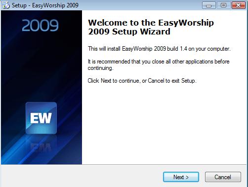easy worship 9 confirmation id
