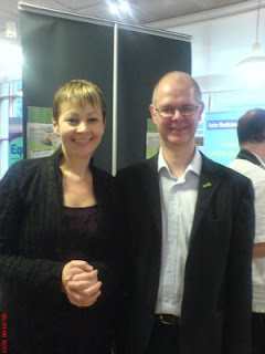 Caroline Lucas with Stuart Jeffery