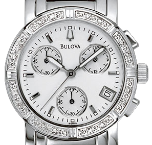 Bulova Women's 96R19 Diamond Chronograph Watch