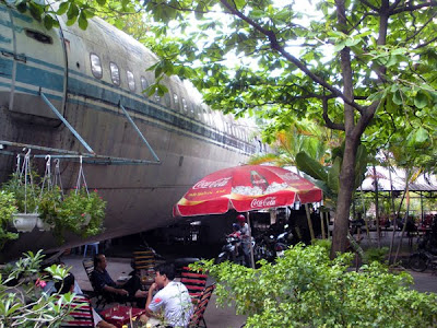 Body of Boeing Airplane at Scenic Cafe in Saigon