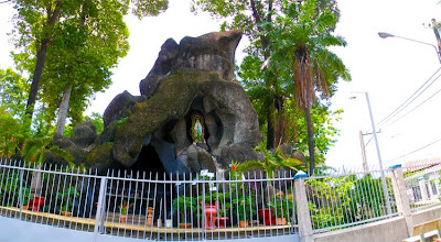 Bizarre prayer rock at Thu Duc church
