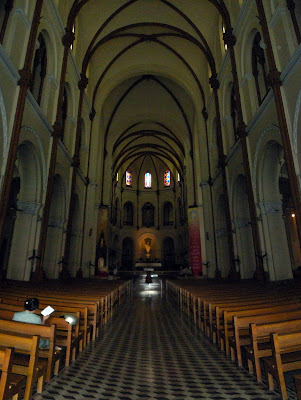 Interior view of Saigon Notre-Dame cathedral
