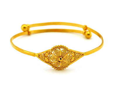 Elegant Gold Bracelets with Beautiful Enamel for Wedding