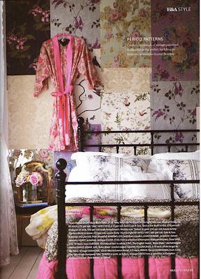 kobieca sypialnia, kobiece królestwo, pokój dla kobiety, Pomysł na..., romantyczna sypialnia, różowa sypialnia, sypialnia dla kobiety, bedroom, vintage, romantic, woman, scandinavian, wzorzyste tapety