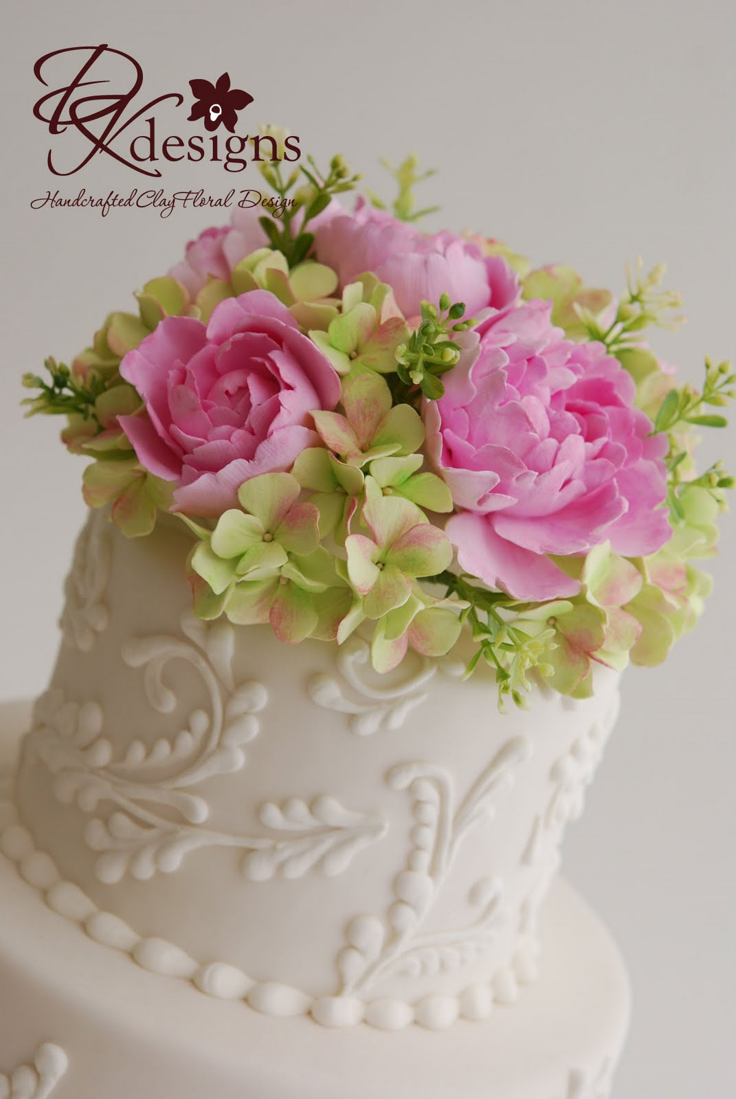 DK Designs: Custom Cake Flower Topper - Pink Peonies and ...