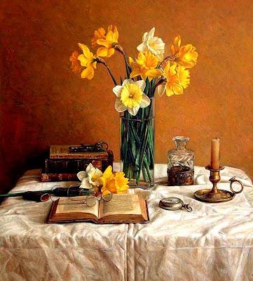 flores al oleo