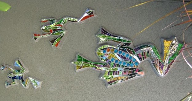 Kim larson art mosaics more symbolic meaning of frogs for Mosaic painting meaning