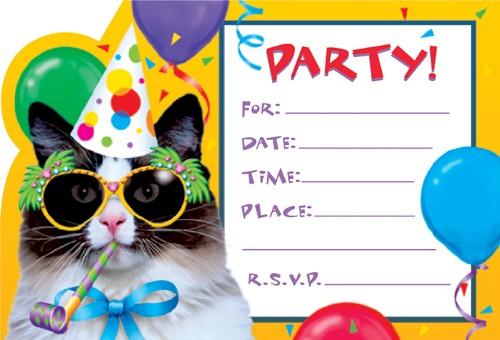 birthday party invitation cards templates .