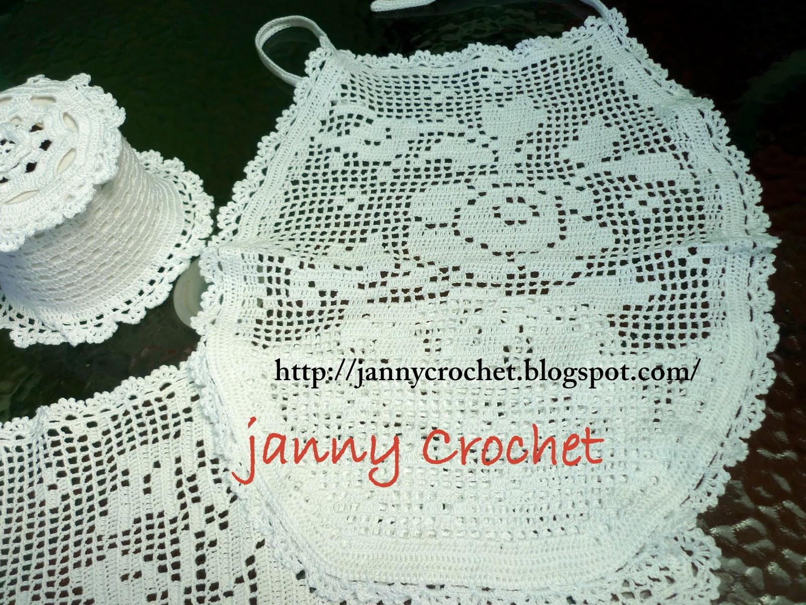 Janny crochet: Juego de baño