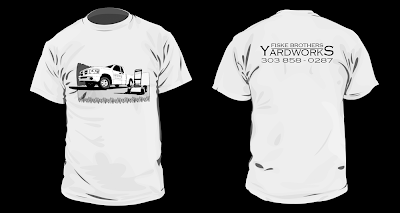 The agile badger illustrations lawn care with flair for Lawn care t shirt designs