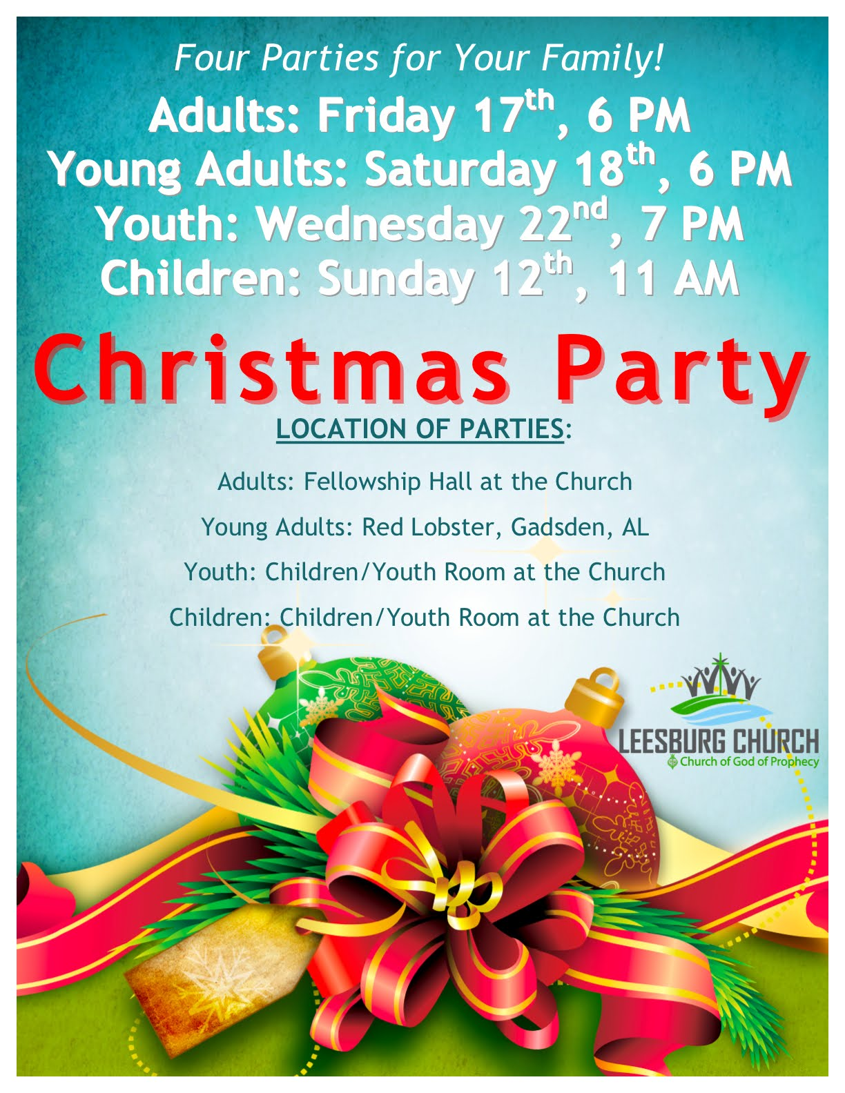 Christmas Party Ideas For Church Part - 49: The Leesburg Church Church Christmas Parties