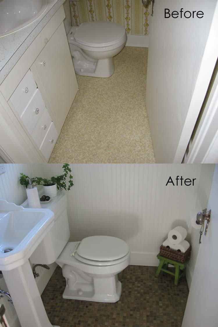 Bathroom Designs Using Beadboard remodelaholic | complete half bath remodel: guest