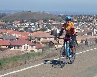 Tricia on her bike