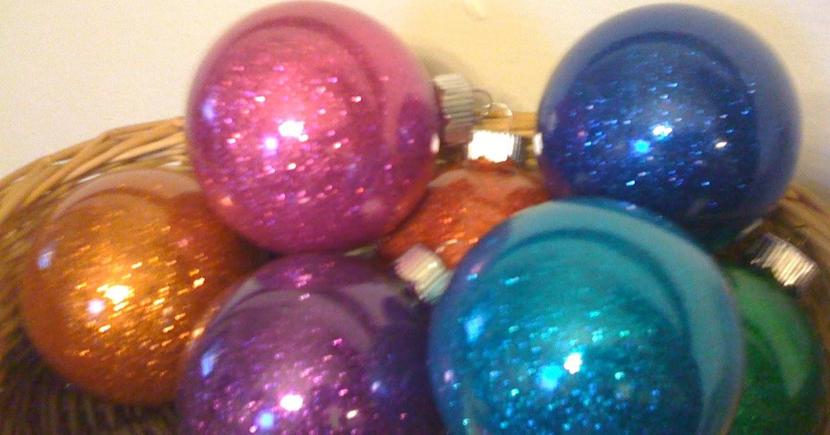 Glitter Christmas Ornaments With Pledge Pledge Floor