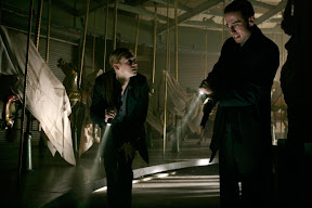 FRINGE: Olivia (Anna Torv, L) and Charlie (Kirk Acevedo, R) investigate a crime scene in the FRINGE episode The Equation