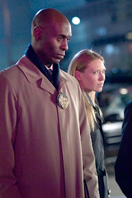 FRINGE: Broyles (Lance Reddick, L) and Olivia (Anna Torv, R) investigate a death at Massive Dynamic headquarters in the FRINGE episode The Dreamscape