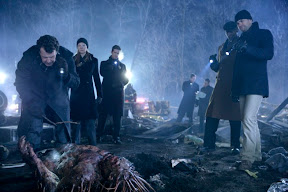 FRINGE: The team arrives at an accident site in the FRINGE episode The Transformation