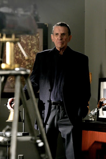 FRINGE: Leonard Nimoy guest-stars as William Bell, owner and founder of Massive Dynamics, in the FRINGE season finale episode  'There's More Than One of Everything' airing Tuesday, May 12 (9:01-10:00 PM ET/PT) on FOX. &#169;2009 Fox Broadcasting Co. CR: Craig Blankenhorn/FOX