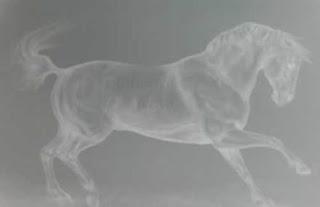 drawing of dancing horse