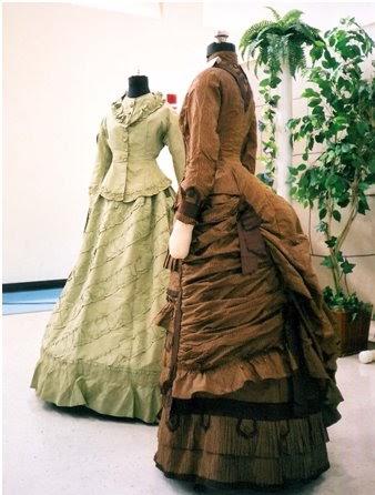 victorian era corsets lace ruffles and big skirts