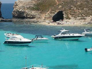 Båtar i the Blue Lagoon, Malta