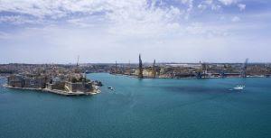 Helikopterbild av Malta