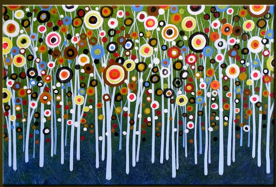 Collaborative Classroom Projects ~ Art instructor danica papali collaborative tree circles