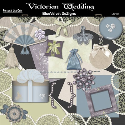 Here is the final part of the Victorian Wedding kit
