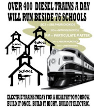 Free Poster: Over 400 Diesel Trains a Day will Run Beside 76 Schools