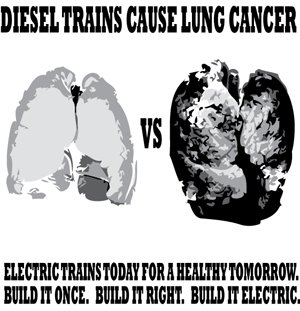 Diesel Trains cause Lung Cancer