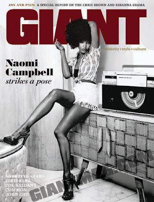 Naomi Campbell en couv de GIANT Magazine