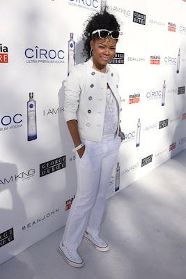 teyana+2 Diddy & Ashton Kutcher's All White Affair