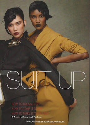 "Sessilee Lopez ""Suit Up"" pour Allure magazine"
