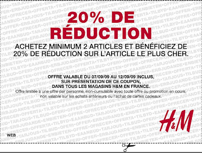 Bon Plan Shopping : 20 % de réduction chez H&M