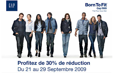 Bon Plan Shopping – GAP – 30% du 21 au 29 septembre 2009