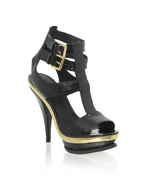 ASOS+HOTTY+Leather+Snake+Effect+Double+Buckle+High+Platform+Sandal Soldes! Soldes! Soldes chez ASOS
