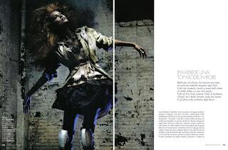 Liya Kebede par Alex Cayley pour Elle Italia