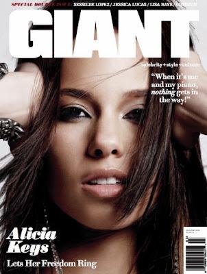 Alicia Keys en couv' de Giant Magazine
