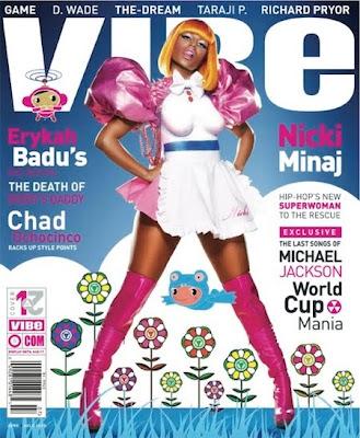 >Nicki Minaj en couv' de Vibe Magazine