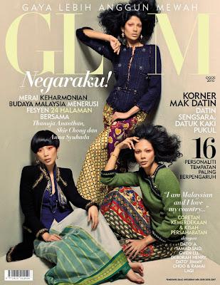 >Trio de choc en couv' de Glam Malaysia