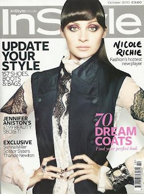 >Nicole Richie en couv' d'InStyle UK