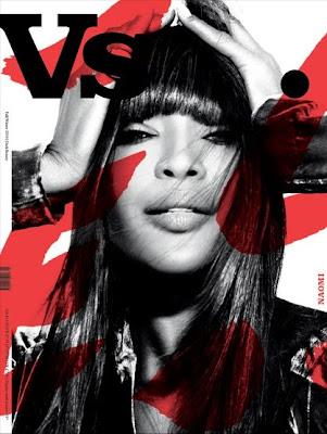 Naomi Campbell en couv' de Vs.