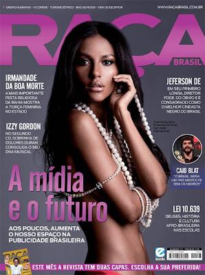>Emanuela de Paula en couv' de Raça Brasil